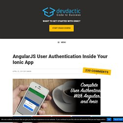 How To Handle User Authentication With AngularJSDevdactic