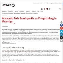Knackpunkt Preis: Anhaltspunkte zur Preisgestaltung im Webdesign