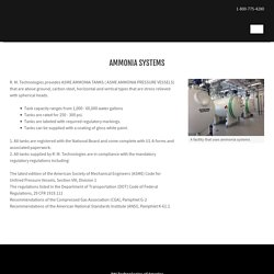 Anhydrous Ammonia Systems and Tanks
