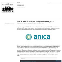 ANICA a MCE 2016 per il risparmio energetico