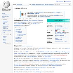 Anicée Alvina - 1953-2006