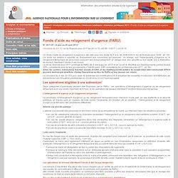 Fonds d'aide au relogement d'urgence (FARU)
