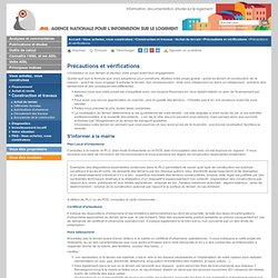 Précautions et vérifications construction