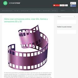 Cómo crear animaciones online, crear Gifs, Comics y animaciones 2D y 3D - crear crear