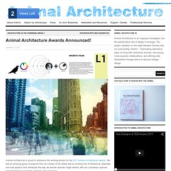 Animal Architecture Awards Announced!