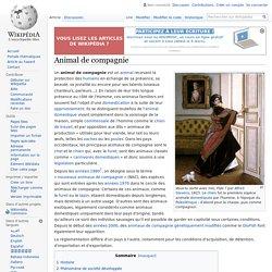 """Origines de la domestication des animaux de compagnies """"classiques"""""""