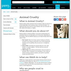 Animal Cruelty » PAWS