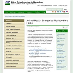 Animal Health Emergency Management Home