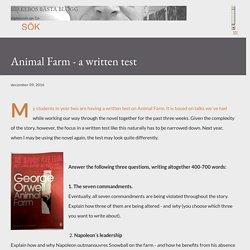 Animal Farm - a written test