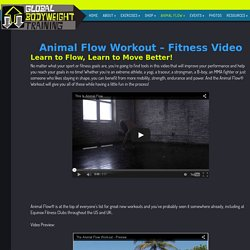 The Animal Flow Workout: Official Site!