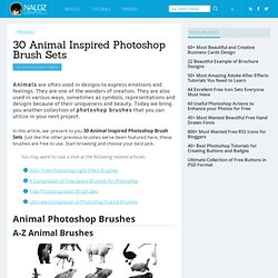 30 Animal Inspired Photoshop Brush Sets