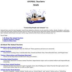 ANIMAL Teachers: Main Page