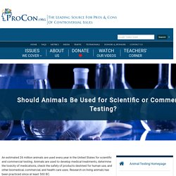 Animal Testing - ProCon.org