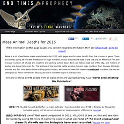 Mass Animal Deaths 2012 - Updated List of Worldwide Die Offs