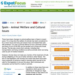 Spain - Animal Welfare and Cultural Issues