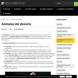 Animales del desierto - Medio Ambiente