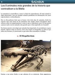 Los 8 animales más grandes de la historia que contradicen a la Biblia
