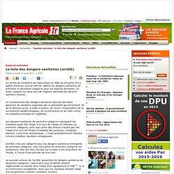 FRANCE AGRICOLE 13/08/13 La liste des dangers sanitaires (arrêté)