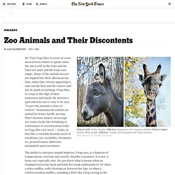 Zoo Animals and Their Discontents