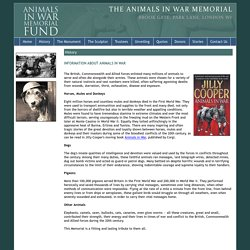 Animals In War Memorial - History - information about animals served in war