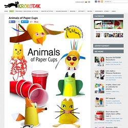 Animals of plastikowe kubeczki