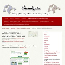 Animaps : créer une cartographie dynamique