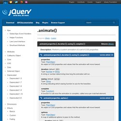 .animate() – jQuery API - CometBird