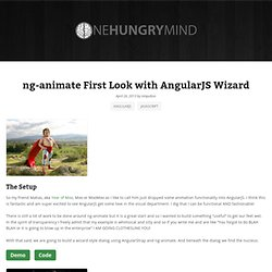 ng-animate First Look with AngularJS Wizard