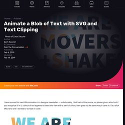 Animate a Blob of Text with SVG and Text Clipping