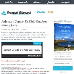 Animate a Contact Us Slide-Out Area using jQuery – Inspect Element
