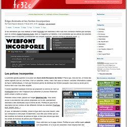 Edge Animate et les fontes incorporées - fr32c blog