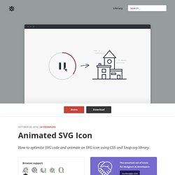 Animate SVG icons with CSS and Snap