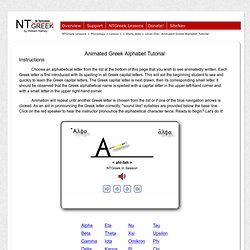 The Greek Alphabet -=- InTheBeginning.org