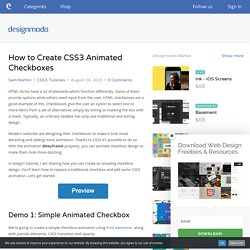 How to Create CSS3 Animated Checkboxes