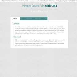 Animated Content Tabs with CSS3