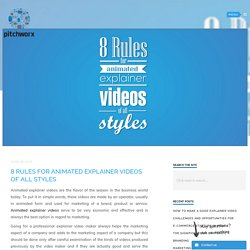 8 Rules for animated explainer videos of all styles
