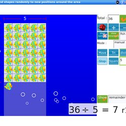 Visual Number animated explorer,learn division,square & triangular