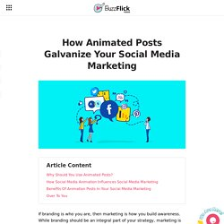 How Animated Posts Galvanize Your Social Media Marketing