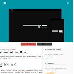 CSS Animated Headlines