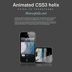 Animated CSS3 helix using 3d transforms