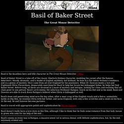 Animated Heroes . . . Basil of Baker Street