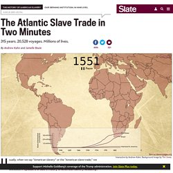 Animated interactive of the history of the Atlantic slave trade.