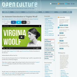 An Animated Introduction to Virginia Woolf