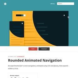 Rounded Animated Navigation in CSS & jQuery