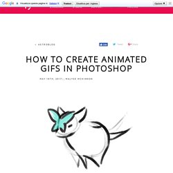 How To Create Animated GIFs in Photoshop – Astroblog