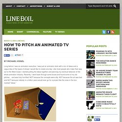 How To Pitch An Animated TV Series