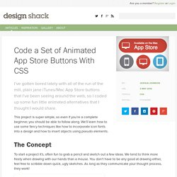 Code a Set of Animated App Store Buttons With CSS