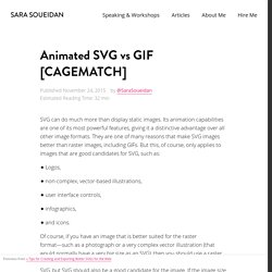 Animated SVG vs GIF [CAGEMATCH]