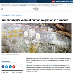This animated video shows 125,000 years of human migration
