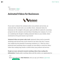 Animated Videos for Businesses